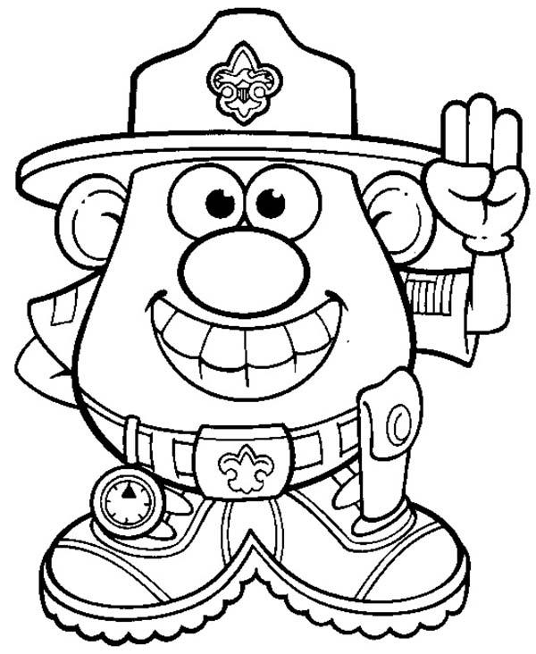 Mr. Potato Head Forest Ranger Coloring Pages