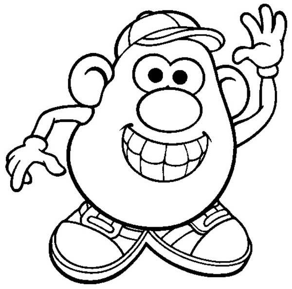 Mr. Potato Head Is So Happy Coloring Pages