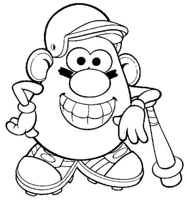 Mr. Potato Head The Famous Baseball Player Coloring Pages