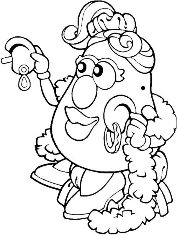 Mr. Potato Head Wife Try New Earing Coloring Pages
