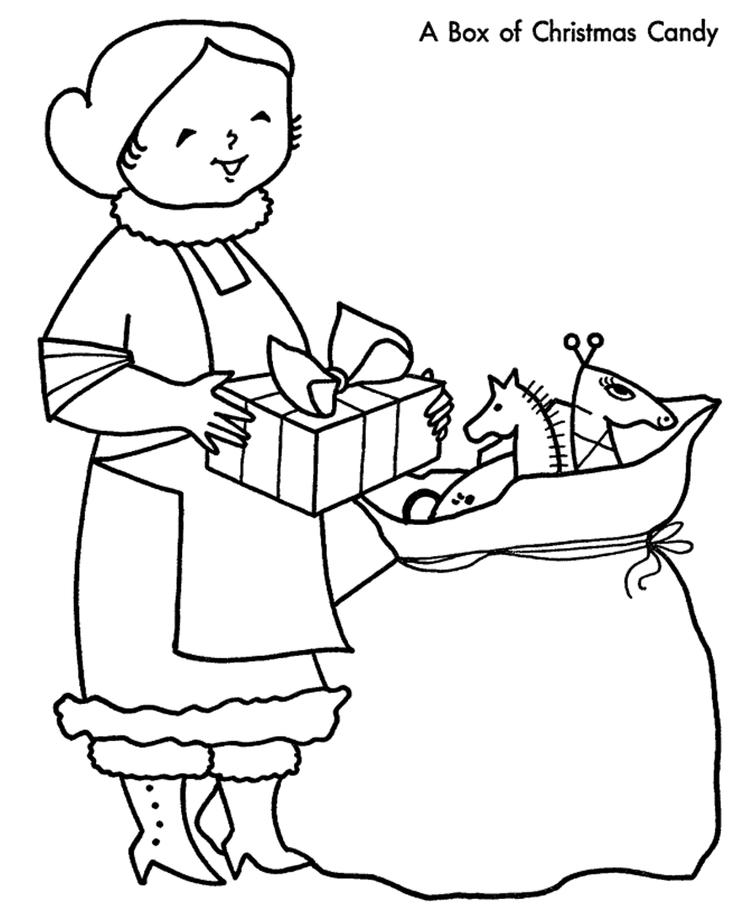 Mrs Claus Christmas Coloring Pages Printable