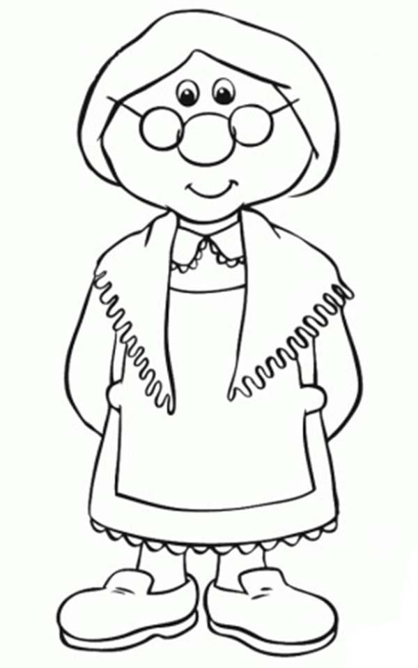Mrs Goggins From Postman Pat Coloring Pages