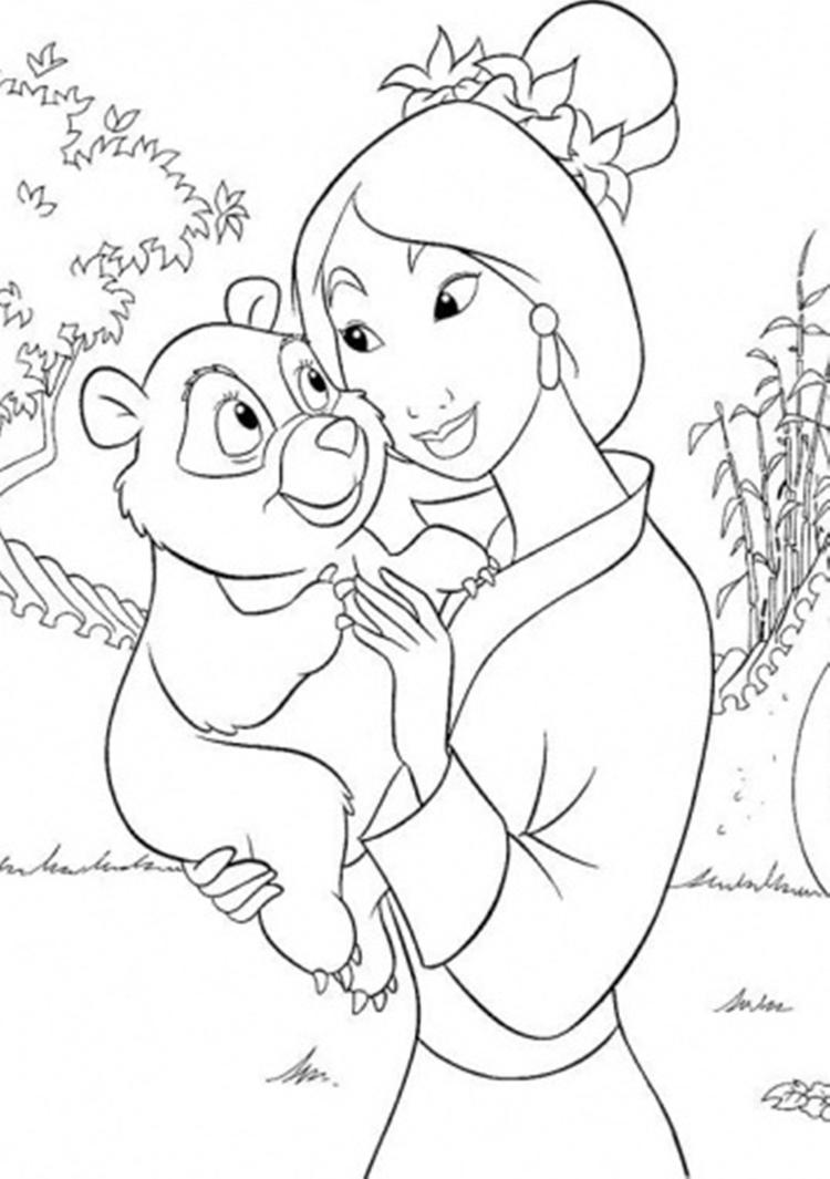 Mulan Coloring Pages For Children