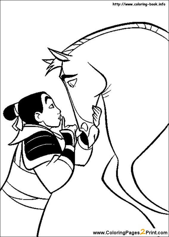Mulan Dress Coloring Pages For Kindergarten 1