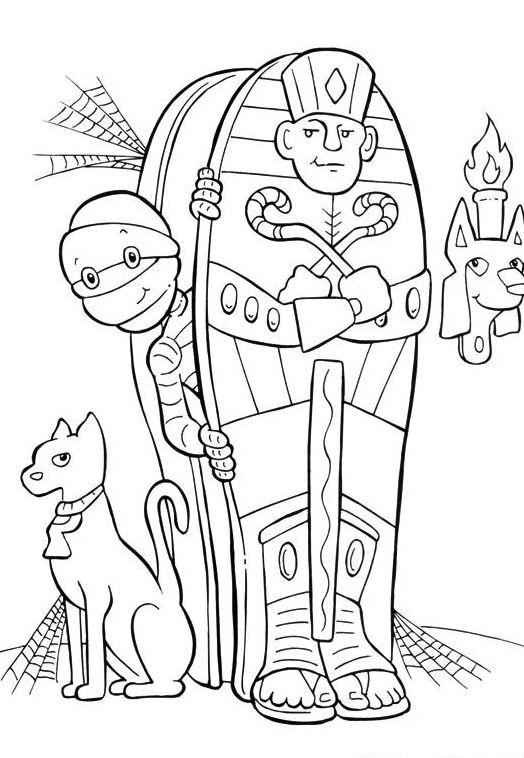 Mummy Halloween Coloring Pages Print Free