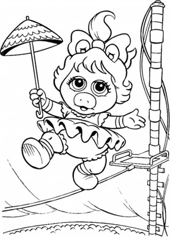 Muppet Babies Circus Walk Balancing On Rope Coloring Pages