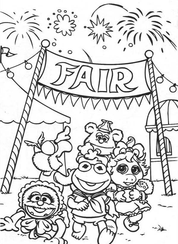 Muppet Babies Fireworks At Annual Baby Fair Coloring Pages