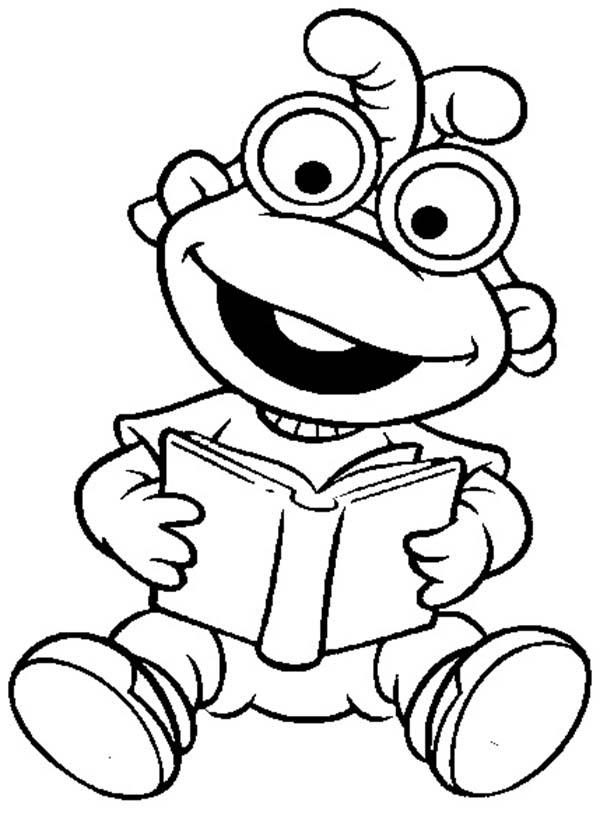 Muppet Babies Learn To Read Coloring Pages