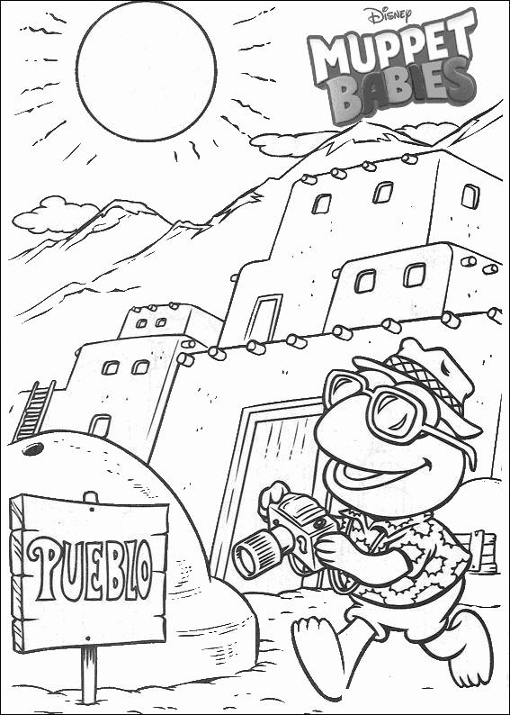 Muppets Baby Photographer Coloring Page For Kids