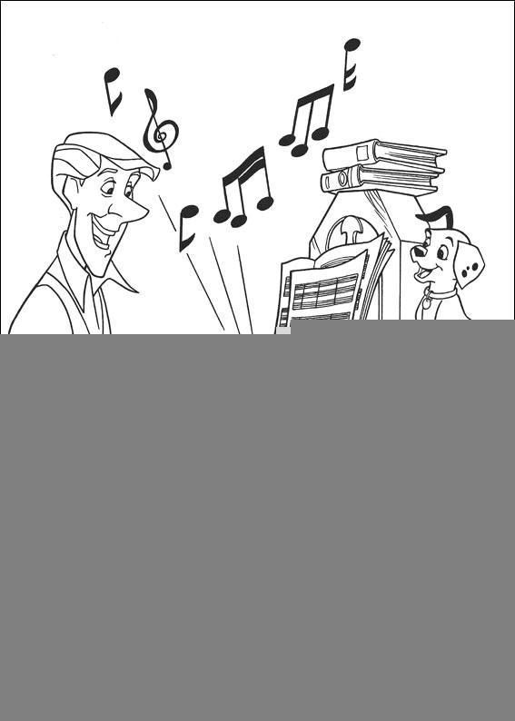 Music Coloring Pages Playing Piano