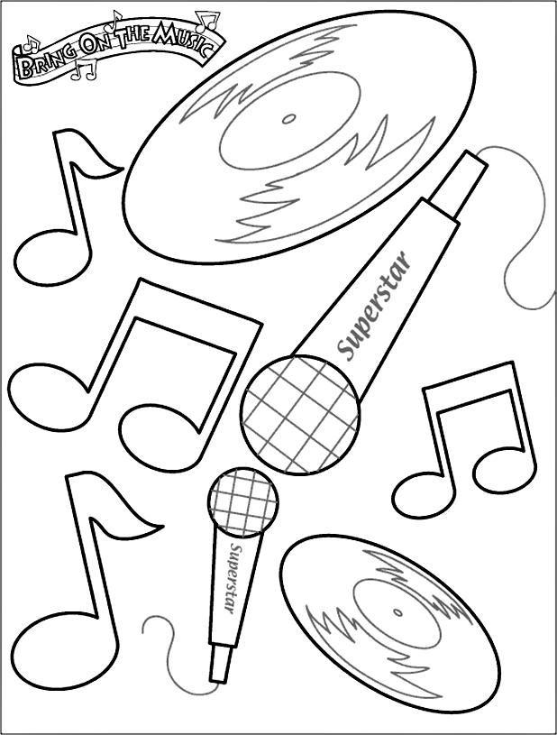 Music Coloring Pages To Print