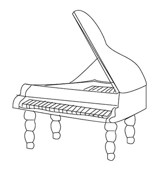 Musical Instruments Grand Piano Coloring Pages
