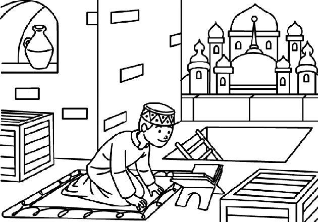 Muslim Kids Colouring Pages