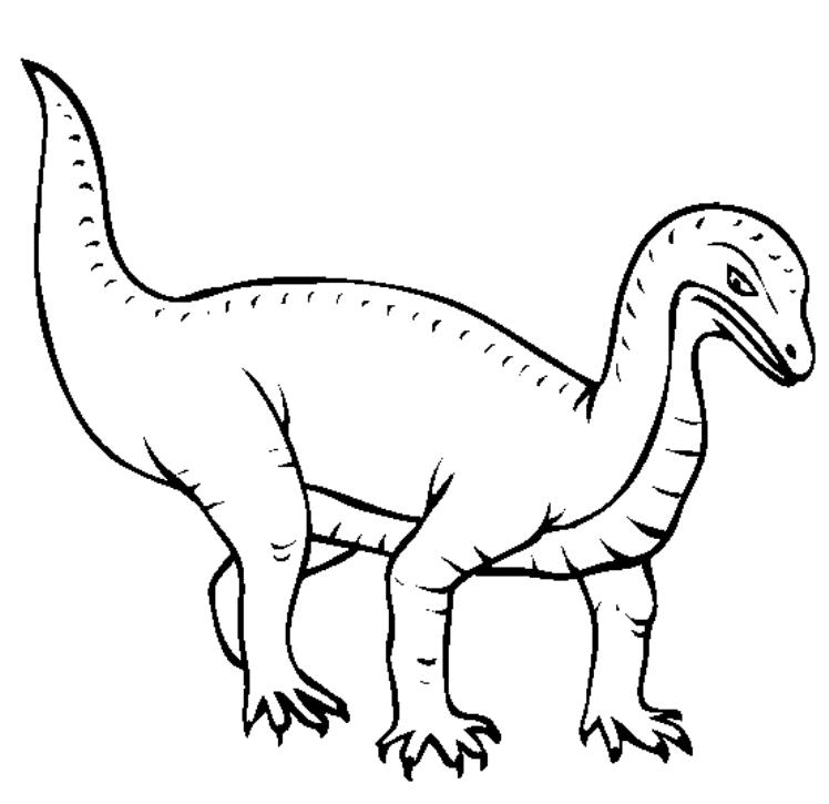 Mussaurus Dinosaur Coloring Pages