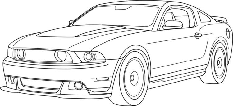 Mustang Car Coloring Pages Printable