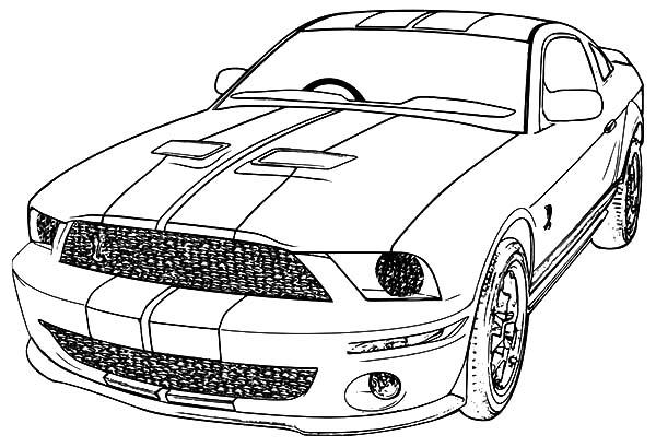 Mustang Coloring Pages For Boys