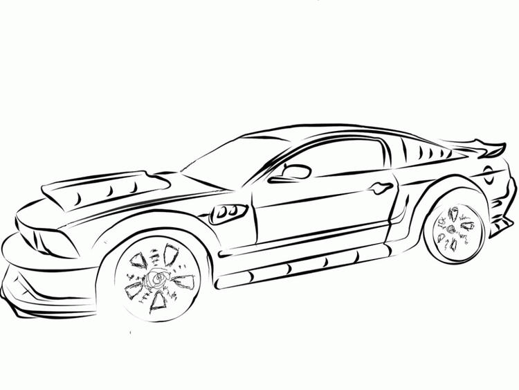 Mustang Coloring Pages Free To Print