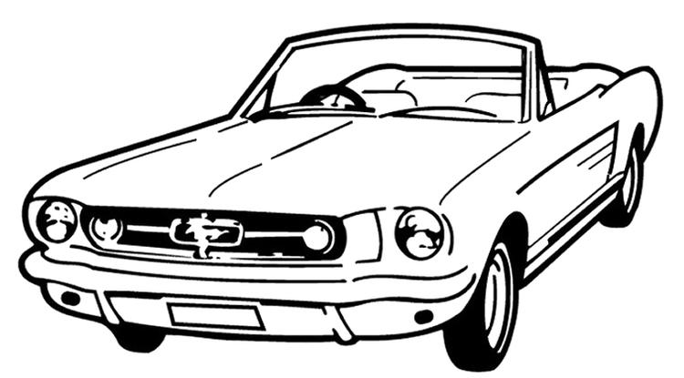 Mustang Coloring Pages Roadster
