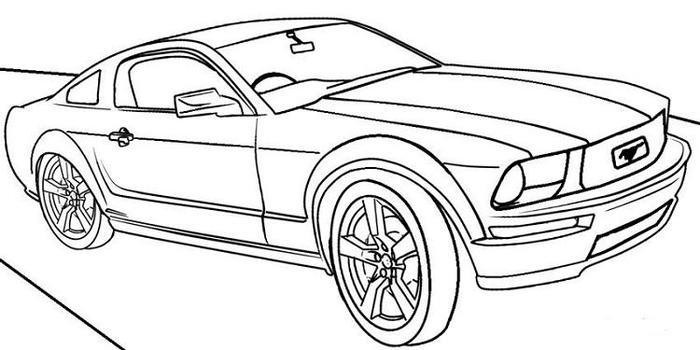 Mustang Race Cars Coloring Pages