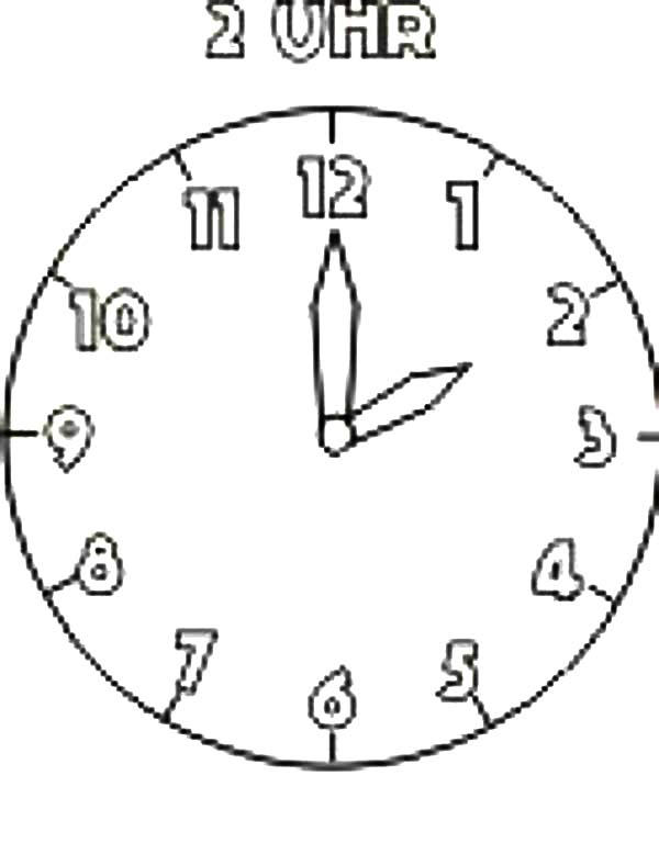 My Analog Clock Coloring Pages