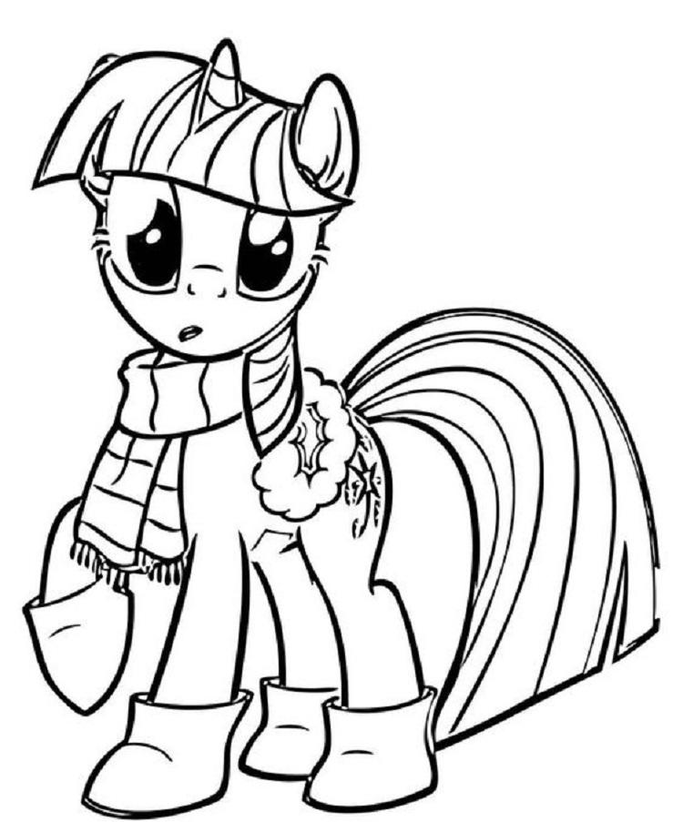 My Little Pony Apple Jack At Winter Coloring Pages