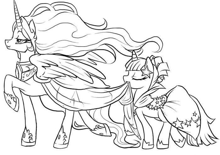 My Little Pony Coloring Book Pages Free