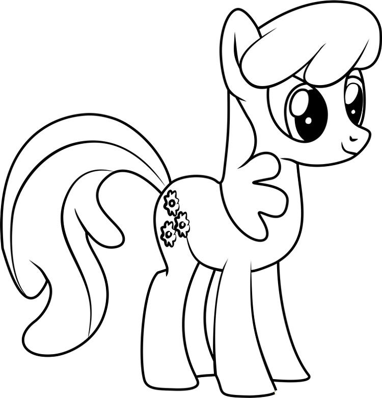 My Little Pony Coloring Pages Cheerilee