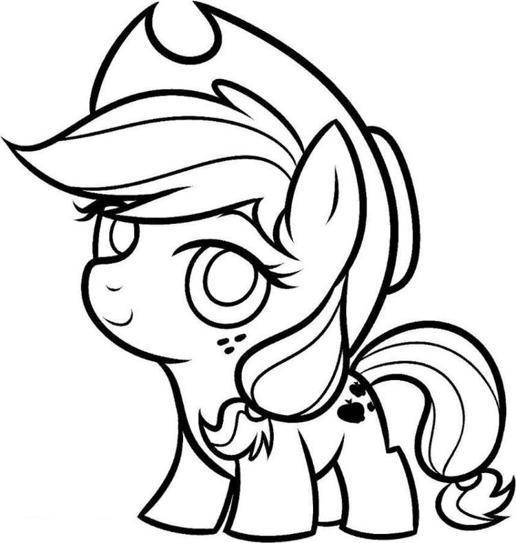My Little Pony Coloring Pages Cute Baby Applejack