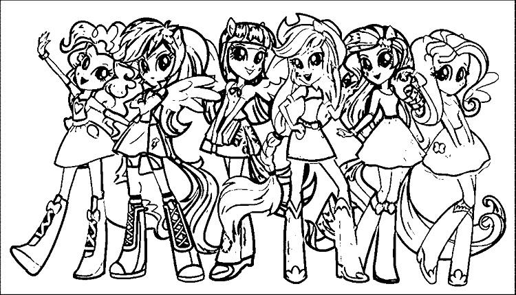 My Little Pony Coloring Pages Equestria