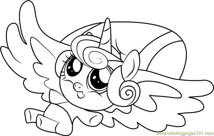 My Little Pony Coloring Pages Flurry Heart