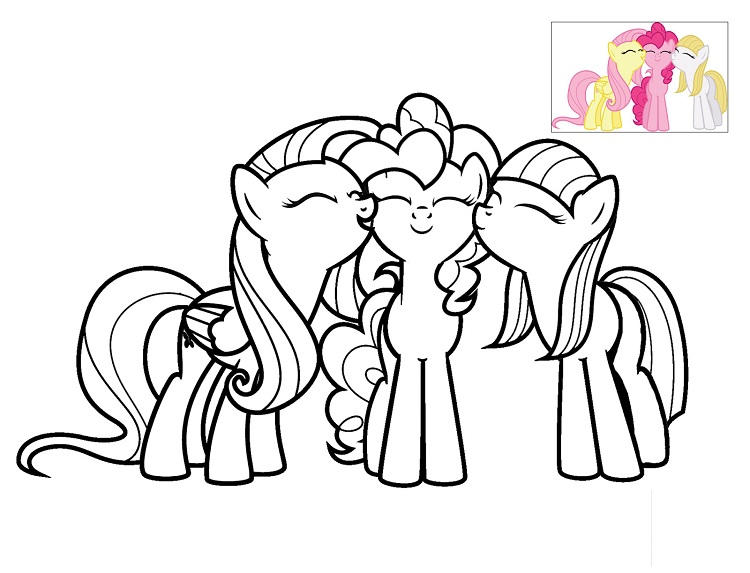 My Little Pony Coloring Pages Fluttershy Gala