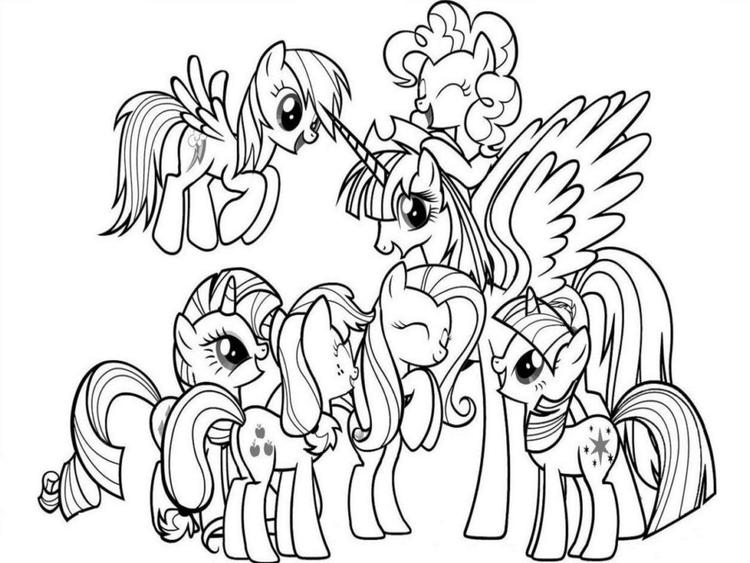 My Little Pony Coloring Pages For Adults
