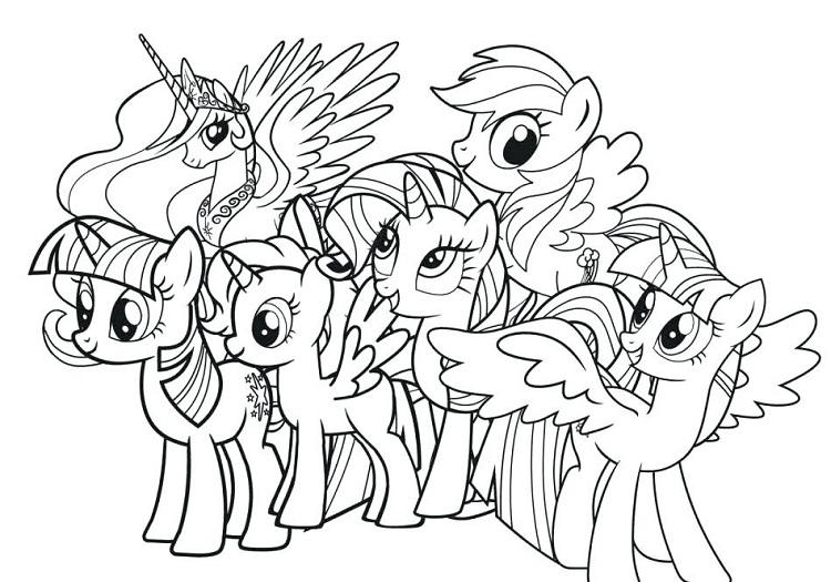 My Little Pony Coloring Pages Full Size