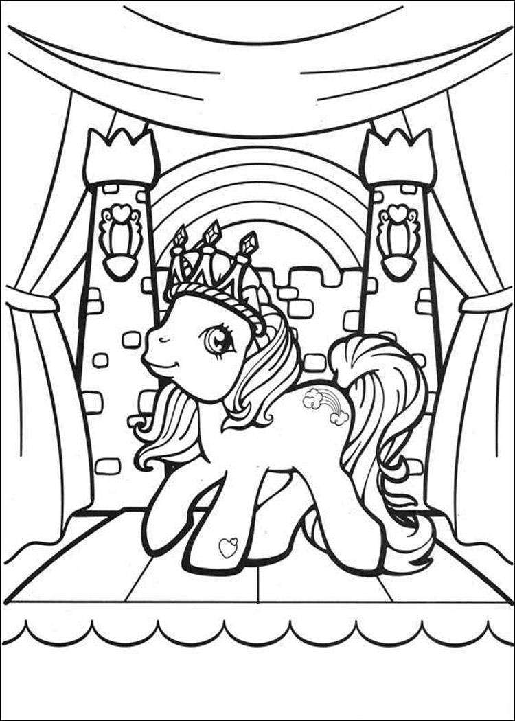 My Little Pony Coloring Pages Queen