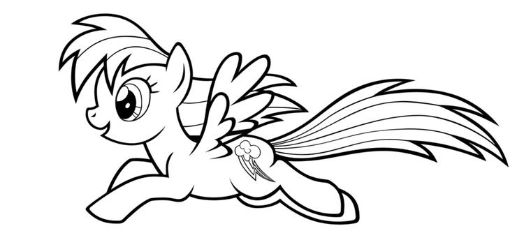 My Little Pony Coloring Pages Rainbow Dash Running