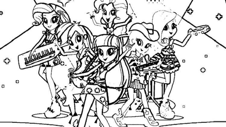 My Little Pony Coloring Pages Rainbow Rocks
