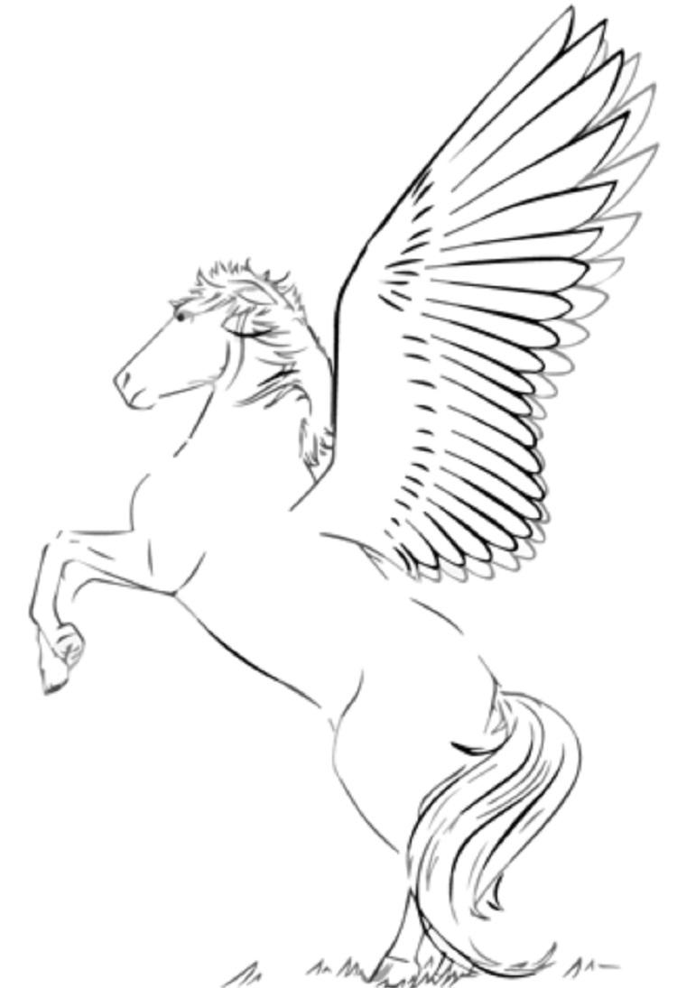 My Little Pony Coloring Pages Rearing Pegasus