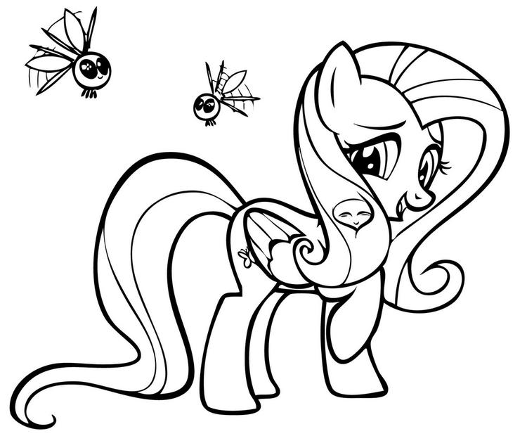 My little pony fluttershy coloring page for girls