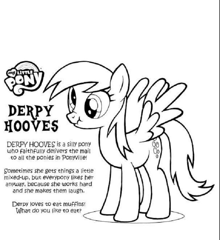 My Little Pony Friendship Is Magic Coloring Pages Derpy