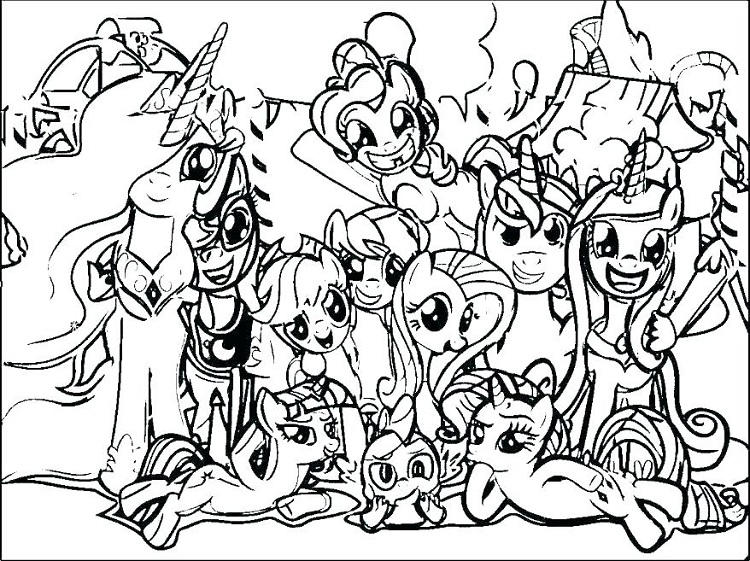 My Little Pony Group Coloring Pages