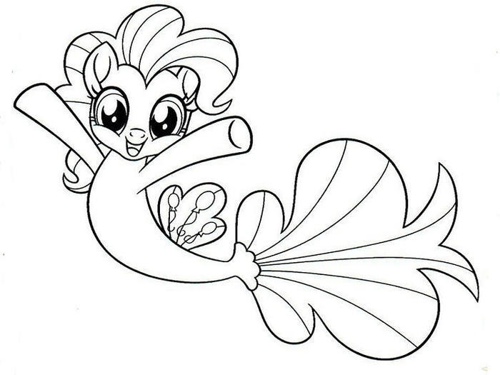 My Little Pony Mermaid Coloring Pages