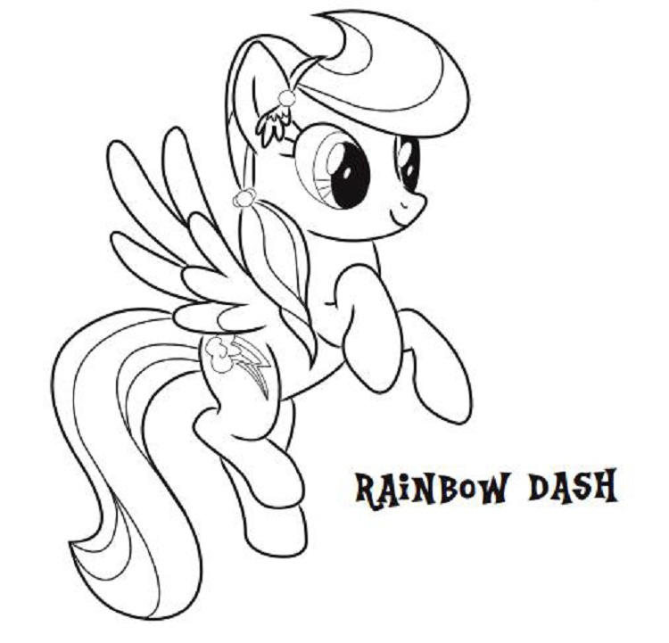 My Little Pony Rainbow Dash Coloring Pages Games