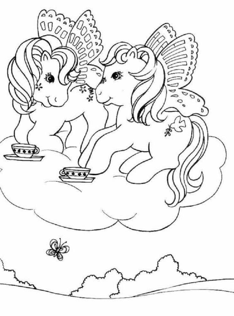 My Little Pony With Tea Coloring Pages
