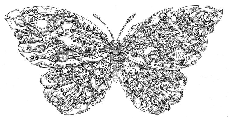 Mythomorphia Coloring Book Kerby Rosanes