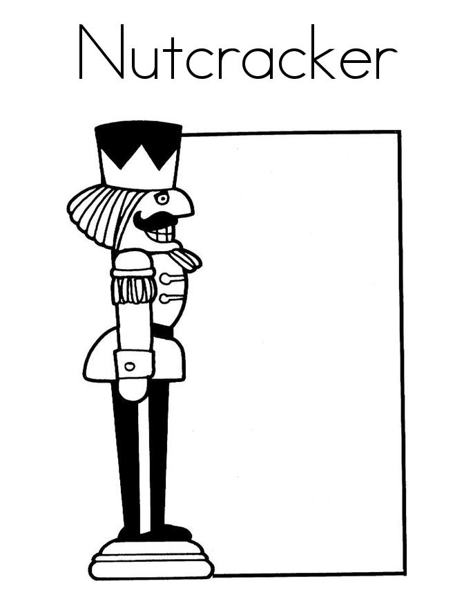 N Is For Nutcracker Coloring Pages