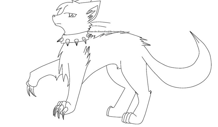 Nail Warrior Cat Coloring Pages