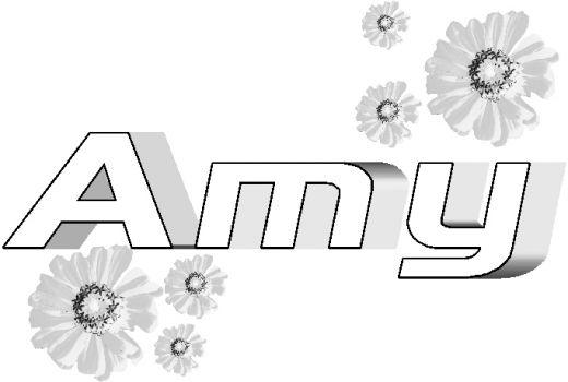 Name Coloring Pages Amy