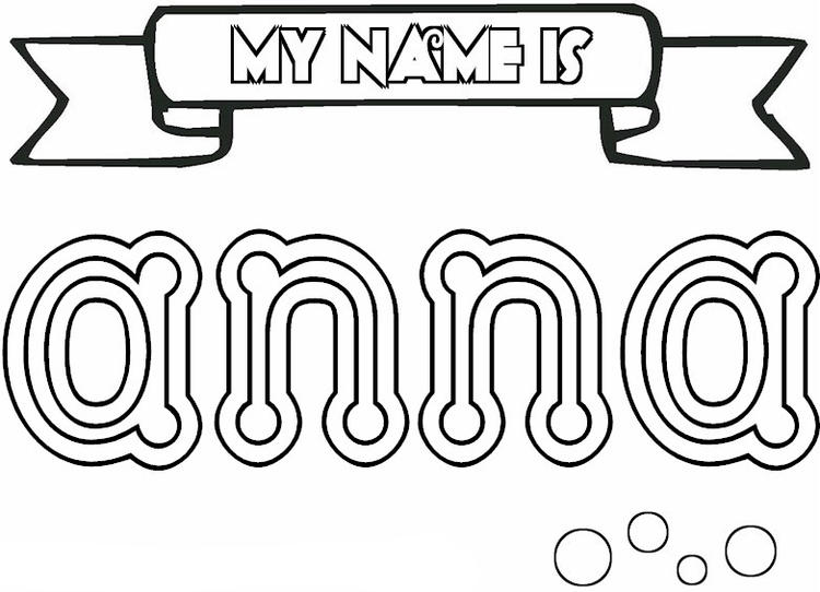 Name Coloring Pages Anna