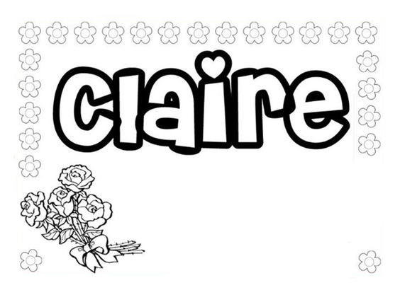 Name Coloring Pages Claire