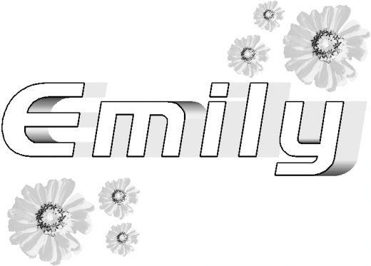 Name Coloring Pages Emily